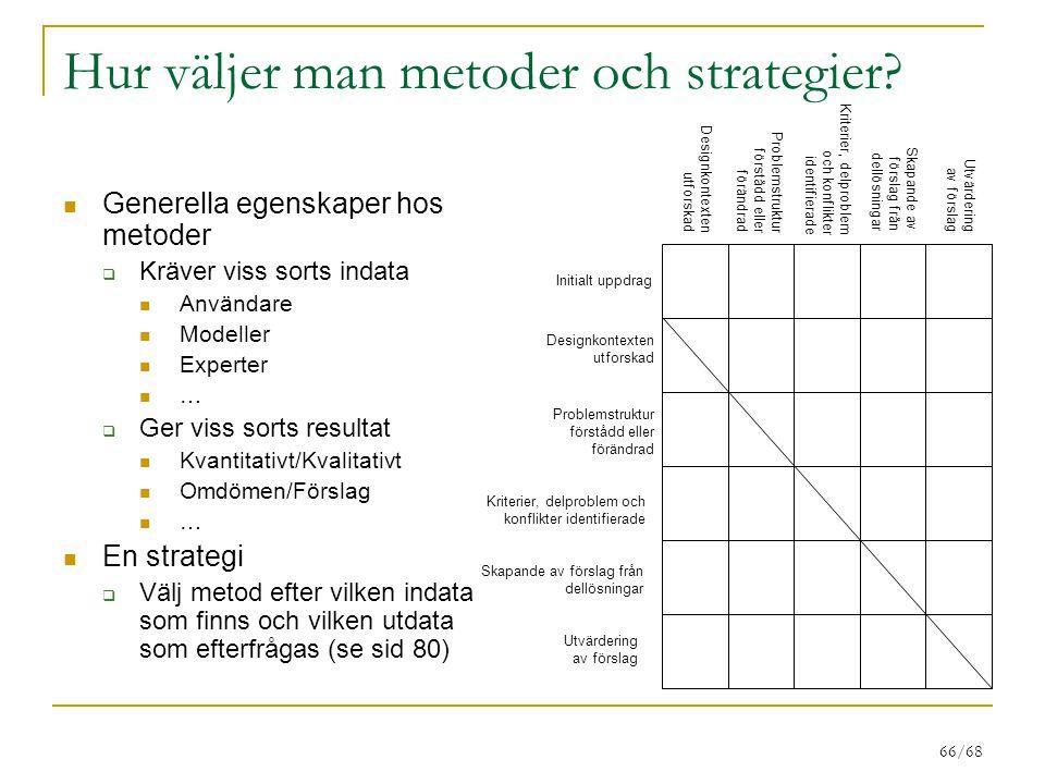 66/68 Hur väljer man metoder och strategier.