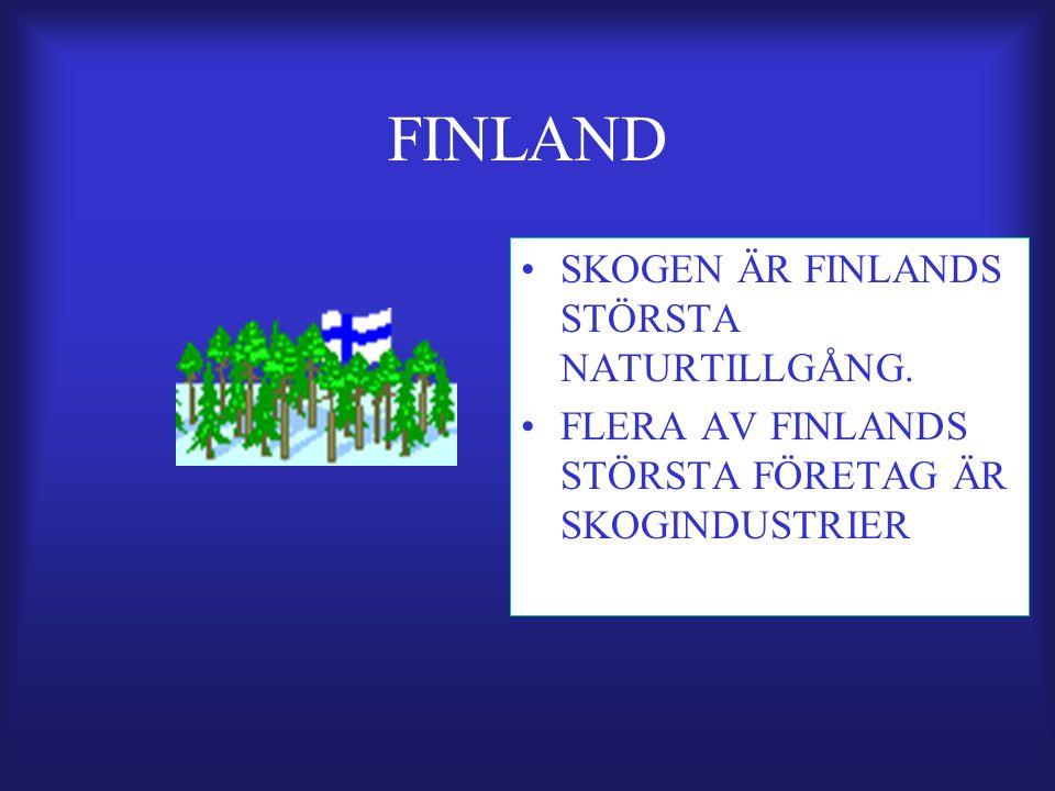 FINLAND SKOGEN ÄR FINLANDS STÖRSTA NATURTILLGÅNG.