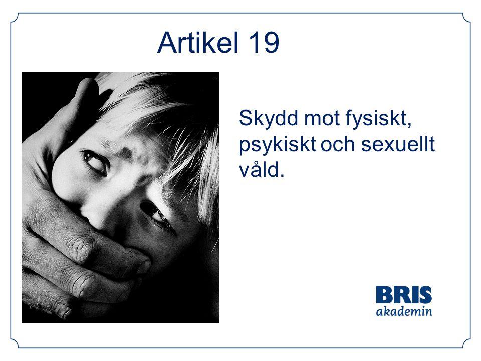 Artikel 19 Skydd mot fysiskt, psykiskt och sexuellt våld.