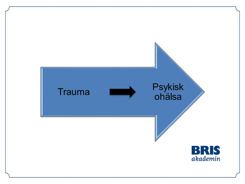 Psykisk ohälsa Trauma