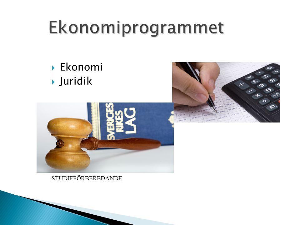  Ekonomi  Juridik STUDIEFÖRBEREDANDE
