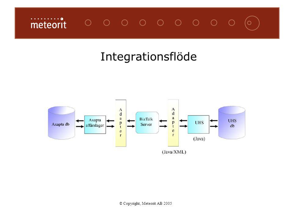 Integrationsflöde © Copyright, Meteorit AB 2005