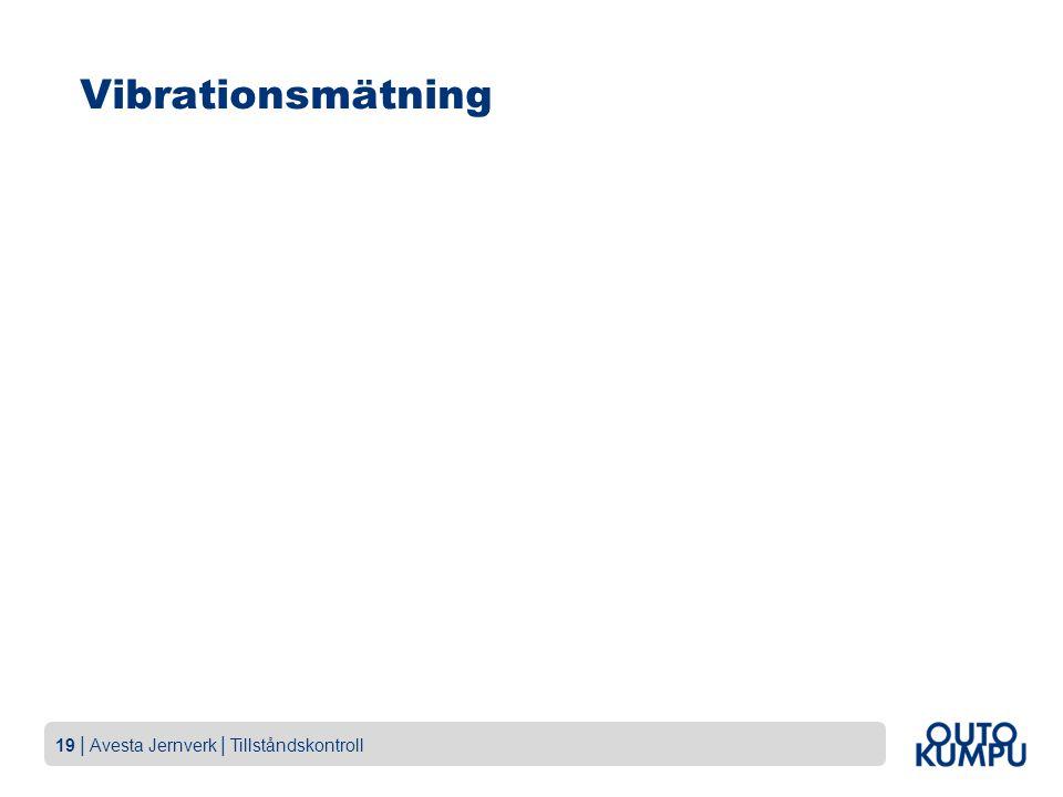 19   Avesta Jernverk   Tillståndskontroll Vibrationsmätning