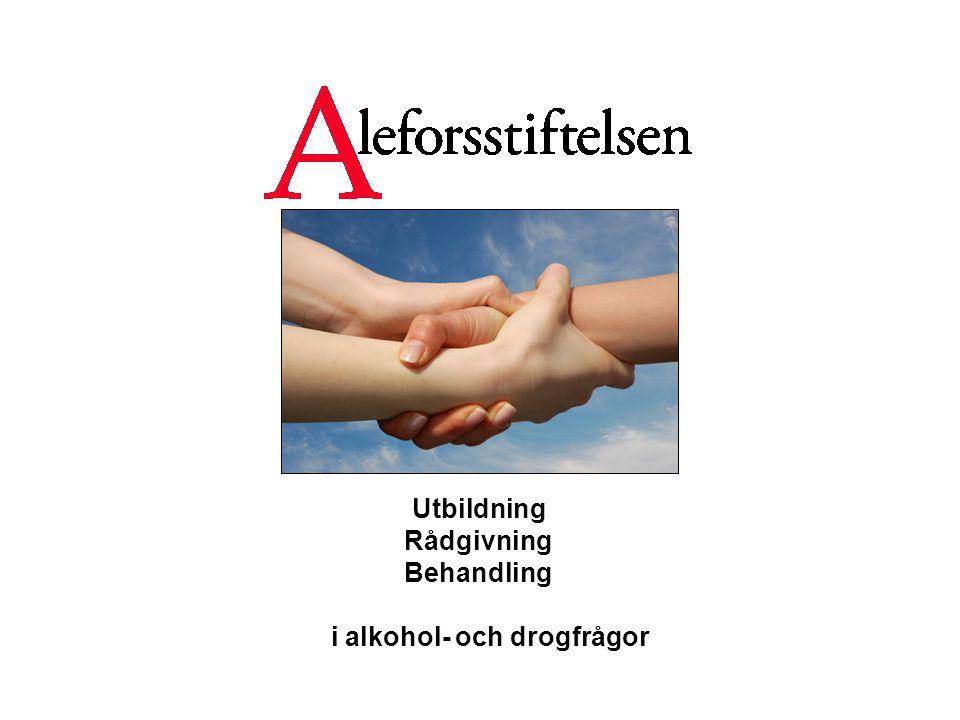 Utbildning Rådgivning Behandling i alkohol- och drogfrågor