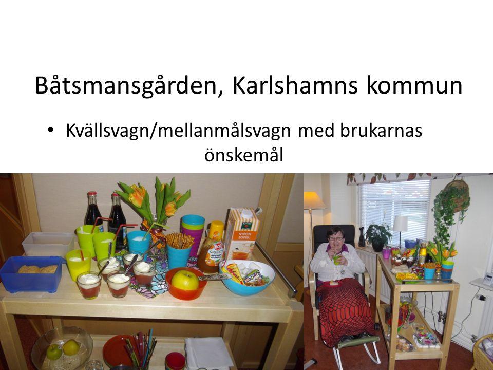 Båtsmansgården, Karlshamns kommun 2014-09-13 Kvällsvagn/mellanmålsvagn med brukarnas önskemål