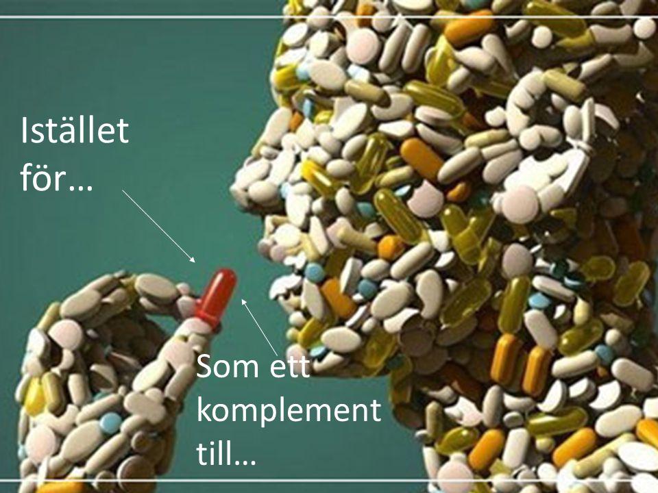 Kan vi ersätta läkemedel med mat? Istället för… Som ett komplement till…