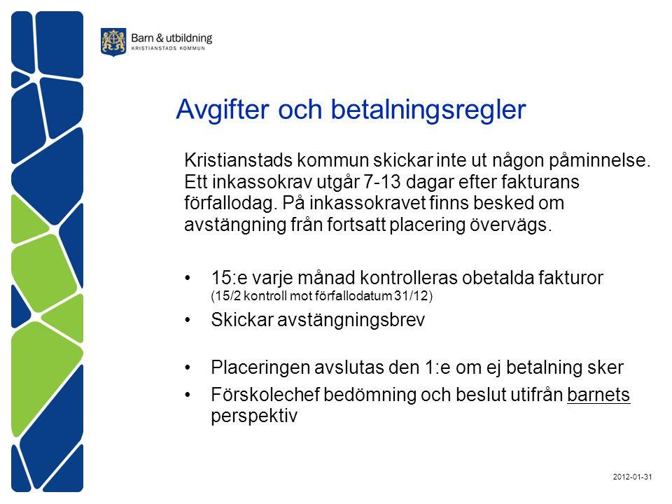 Kristianstads kommun skickar inte ut någon påminnelse.