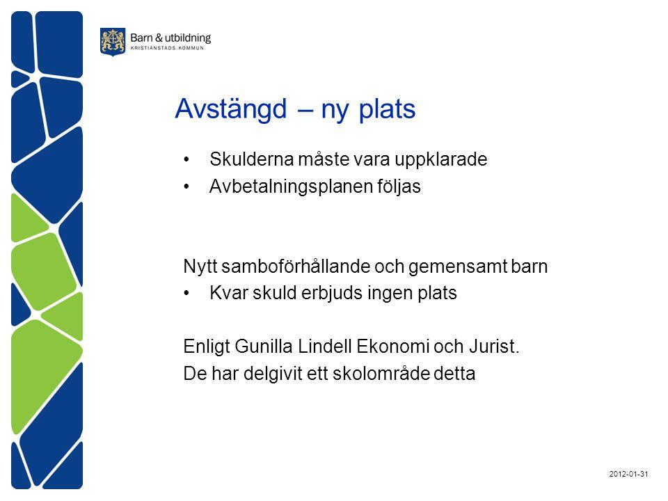 Skulderna måste vara uppklarade Avbetalningsplanen följas Nytt samboförhållande och gemensamt barn Kvar skuld erbjuds ingen plats Enligt Gunilla Lindell Ekonomi och Jurist.