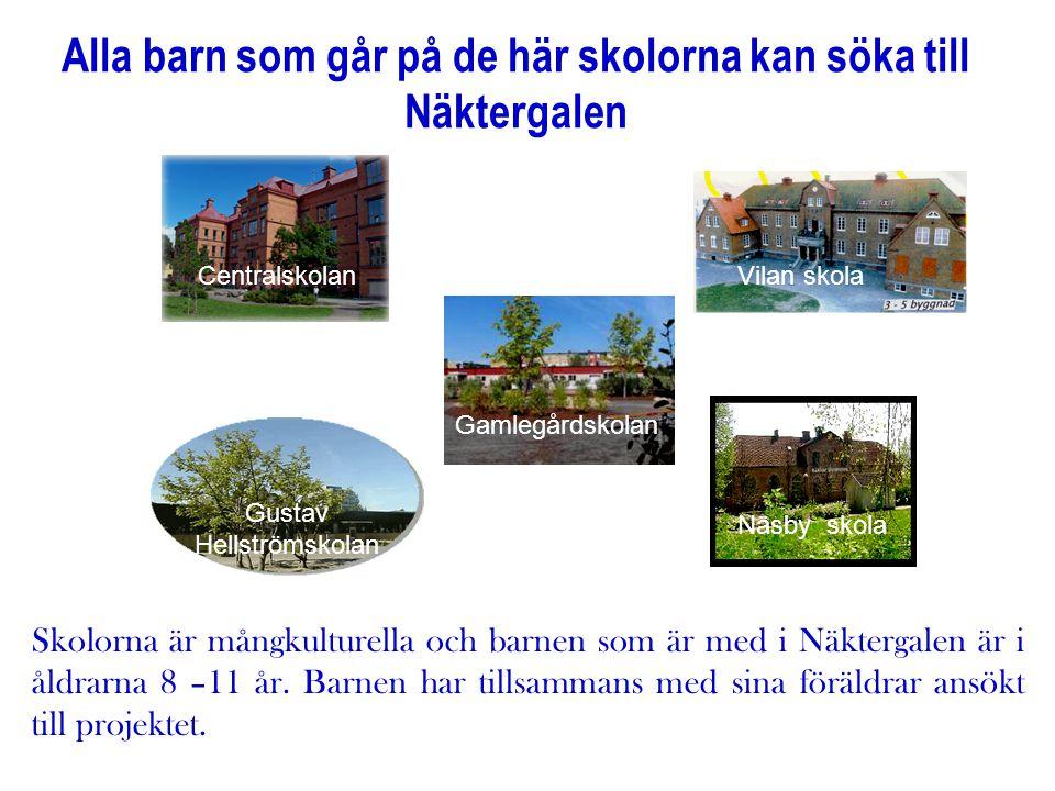 Alla barn som går på de här skolorna kan söka till Näktergalen Centralskolan Gamlegårdskolan Gustav Hellströmskolan Näsby skola Vilan skola Skolorna ä