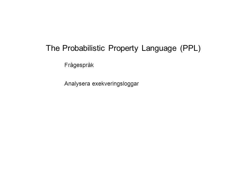 Prober Prober för task P(TaskA(i), TaskA(i).probe20 > 0) = 1 Kön ska aldrig vara tom när TaskA startar.