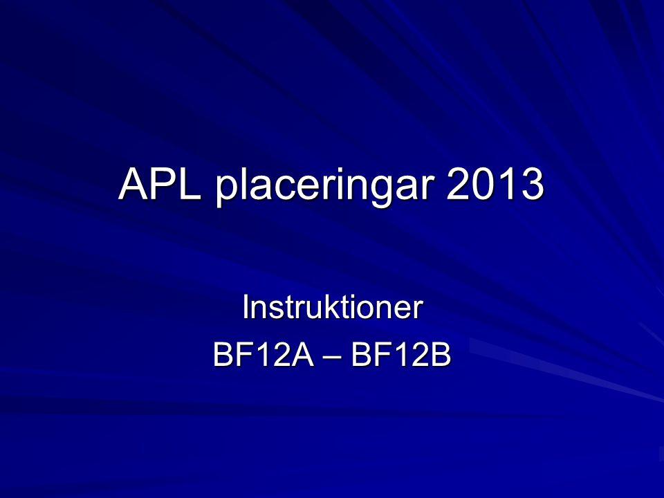 Listorna: Finns inlagda på FC tomaten – APL BF12.En lista för varje klass som bilaga.