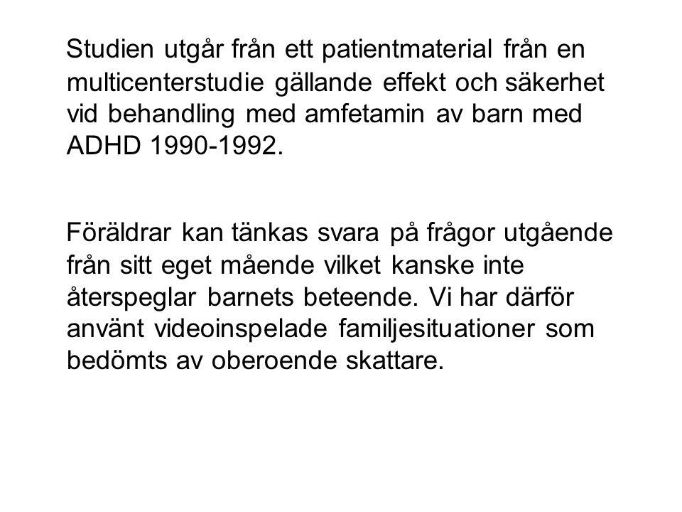 SCL-90 depression mödrar: Normala familjer n=707 Patientfamiljer n=33 Skillnad noll och tre månader p<0,05