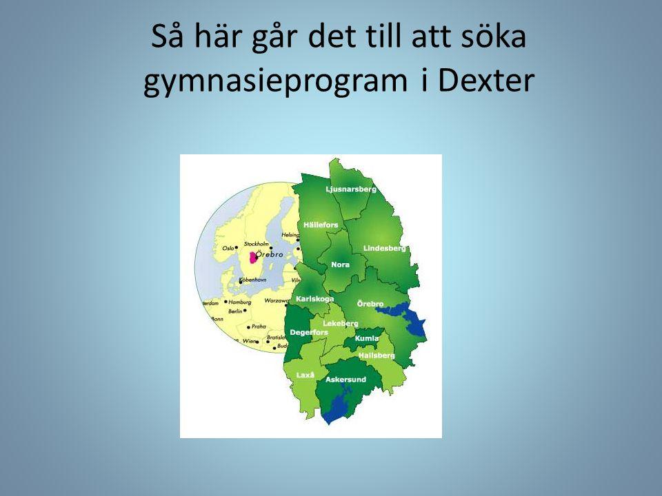 Så här går det till att söka gymnasieprogram i Dexter