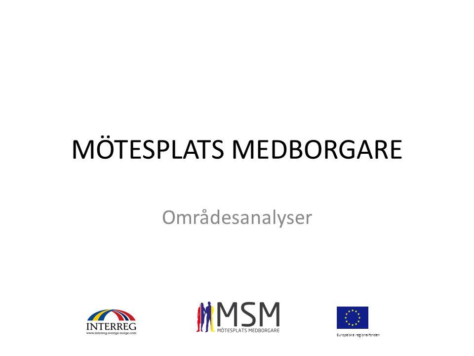 MÖTESPLATS MEDBORGARE Områdesanalyser Europeiska regionalfonden