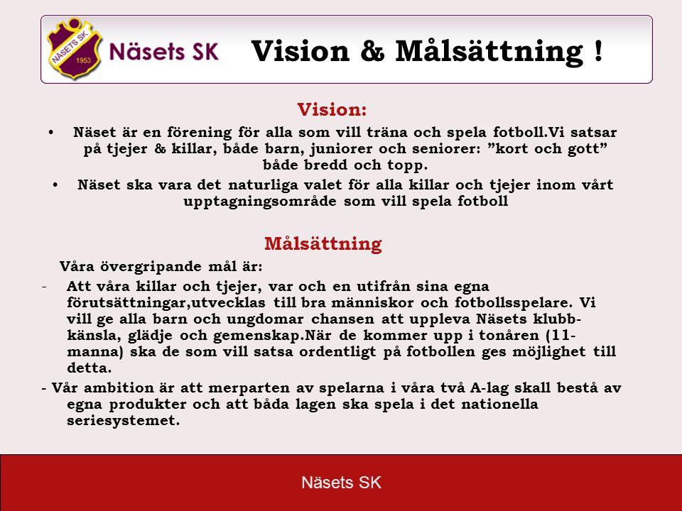 """Näsets SK Vision: Näset är en förening för alla som vill träna och spela fotboll.Vi satsar på tjejer & killar, både barn, juniorer och seniorer: """"kort"""