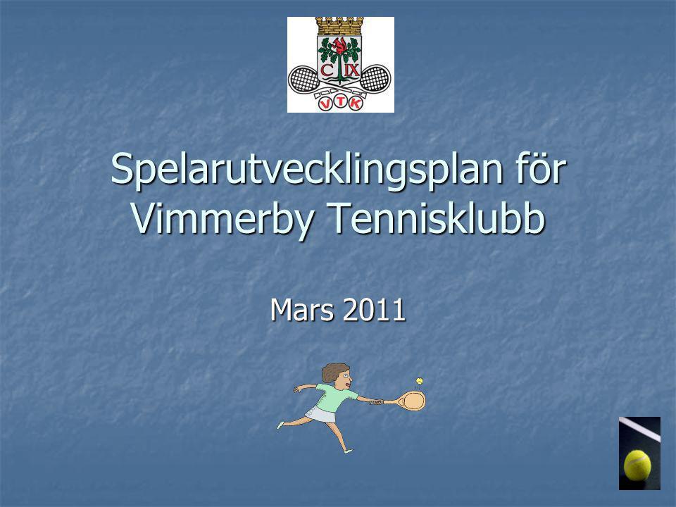Spelarutvecklingsplan för Vimmerby Tennisklubb Mars 2011
