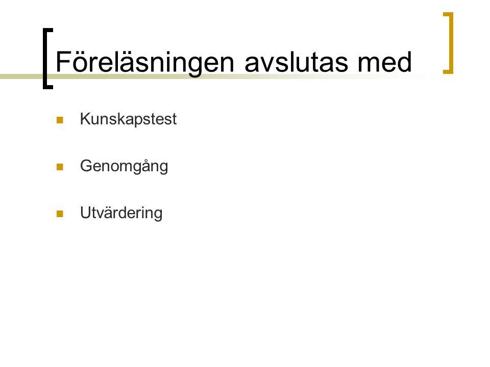 Bromssystemet Varför bromssystem.