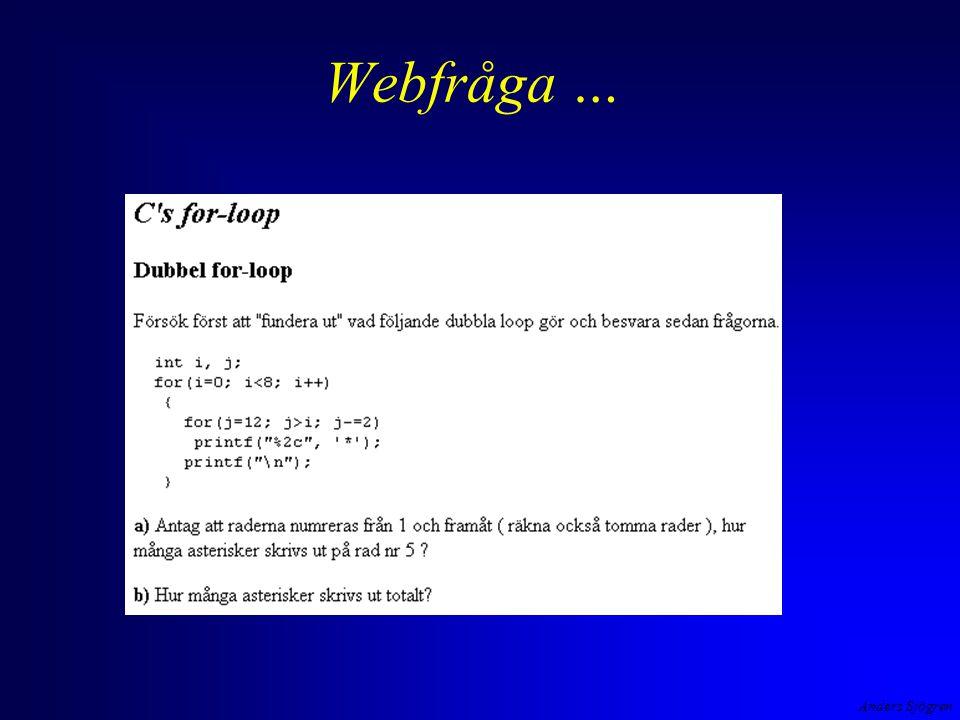 Anders Sjögren Webfråga …