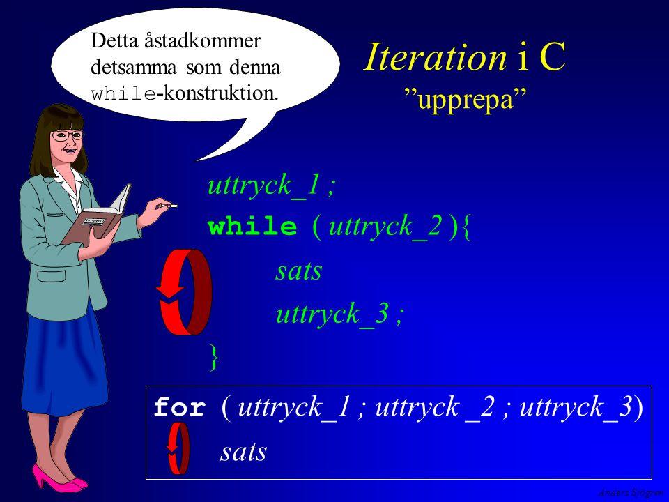 Anders Sjögren for-loopen i programmet interest.c