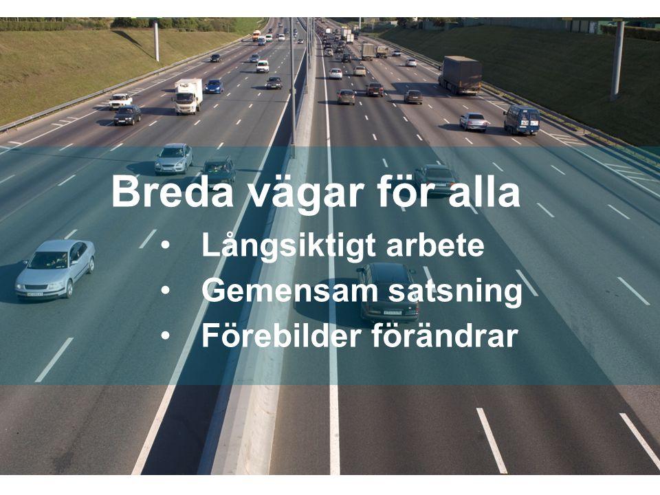 SWEDISH AGENCY FOR ECONOMIC AND REGIONAL GROWTH Breda vägar för alla Långsiktigt arbete Gemensam satsning Förebilder förändrar