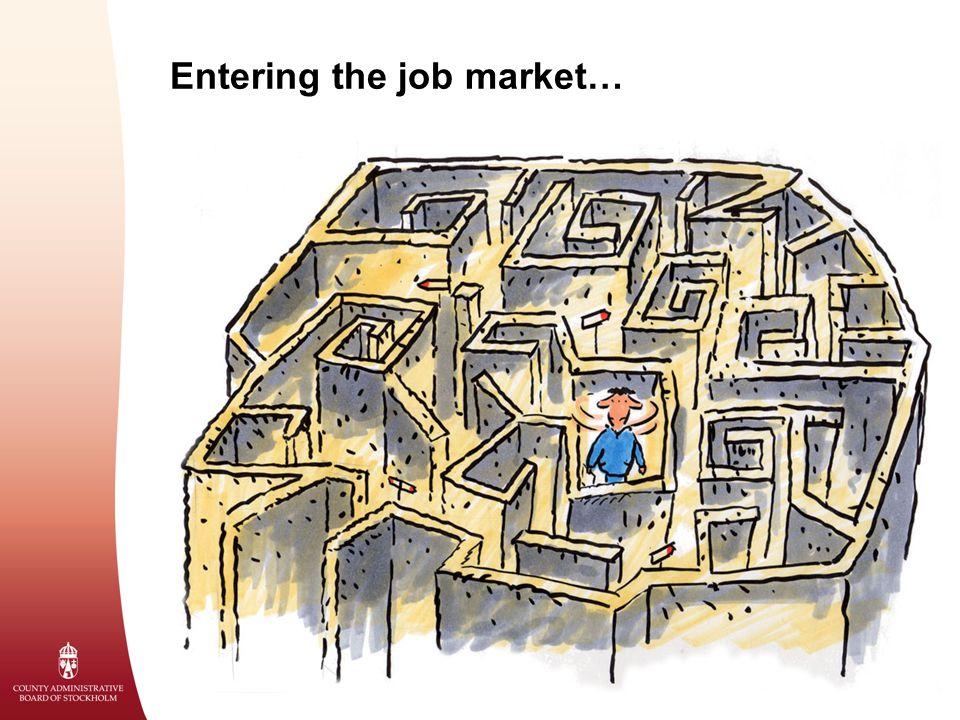 Entering the job market…