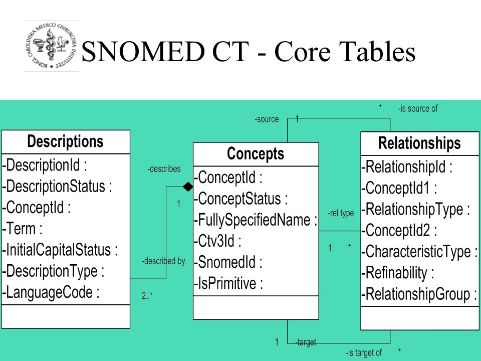 SNOMED CT - Core Tables