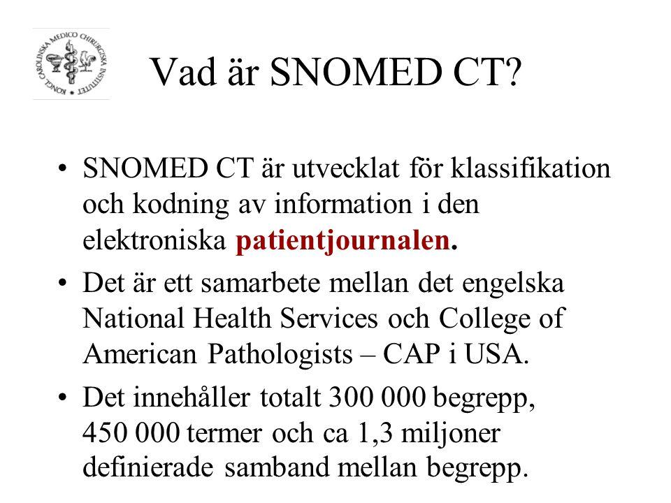 Vad är SNOMED CT.