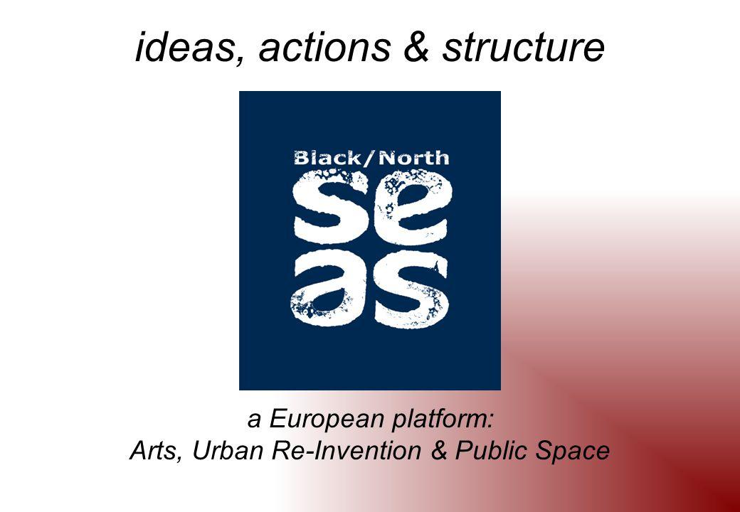ideas, actions & structure a European platform: Arts, Urban Re-Invention & Public Space