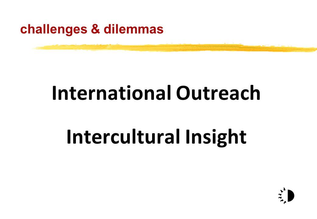 International Outreach Intercultural Insight challenges & dilemmas