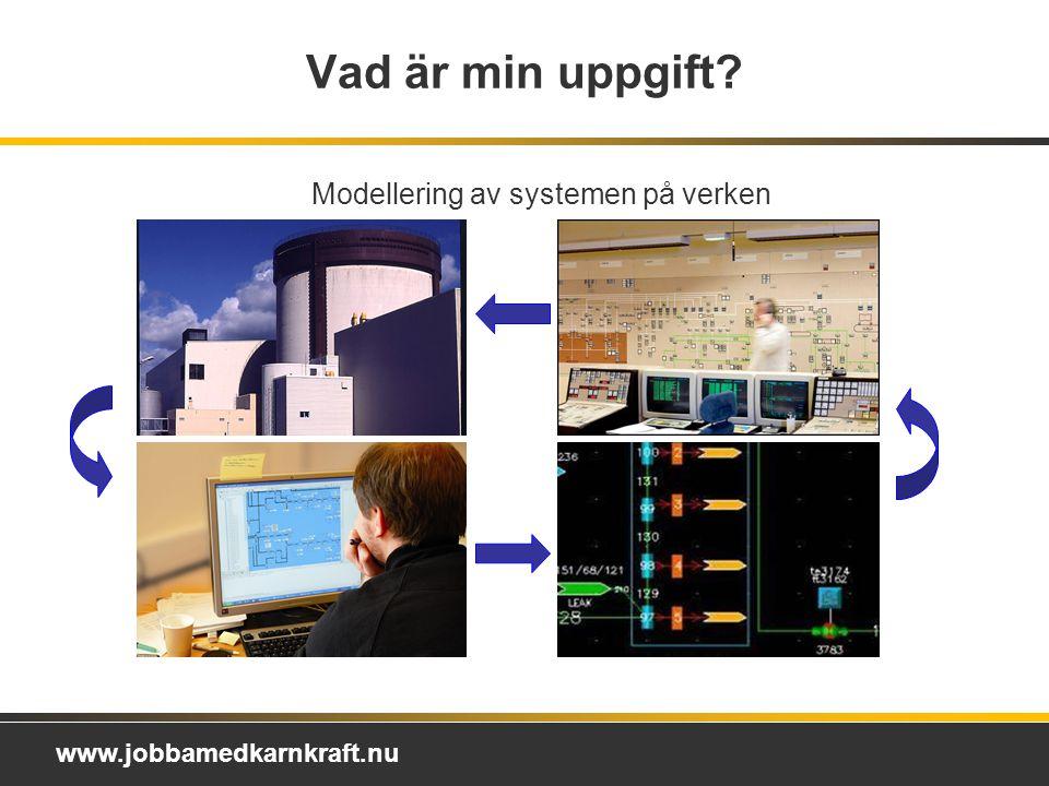 www.jobbamedkarnkraft.nu Vad är min uppgift? Modellering av systemen på verken