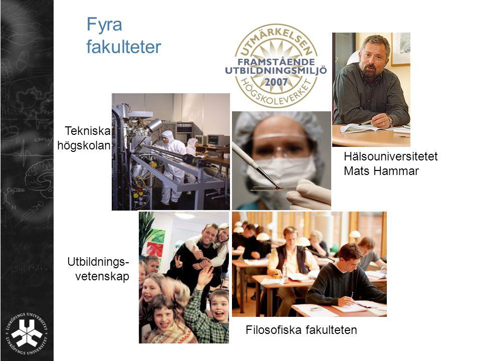 Fyra fakulteter Tekniska högskolan Hälsouniversitetet Mats Hammar Filosofiska fakulteten Utbildnings- vetenskap
