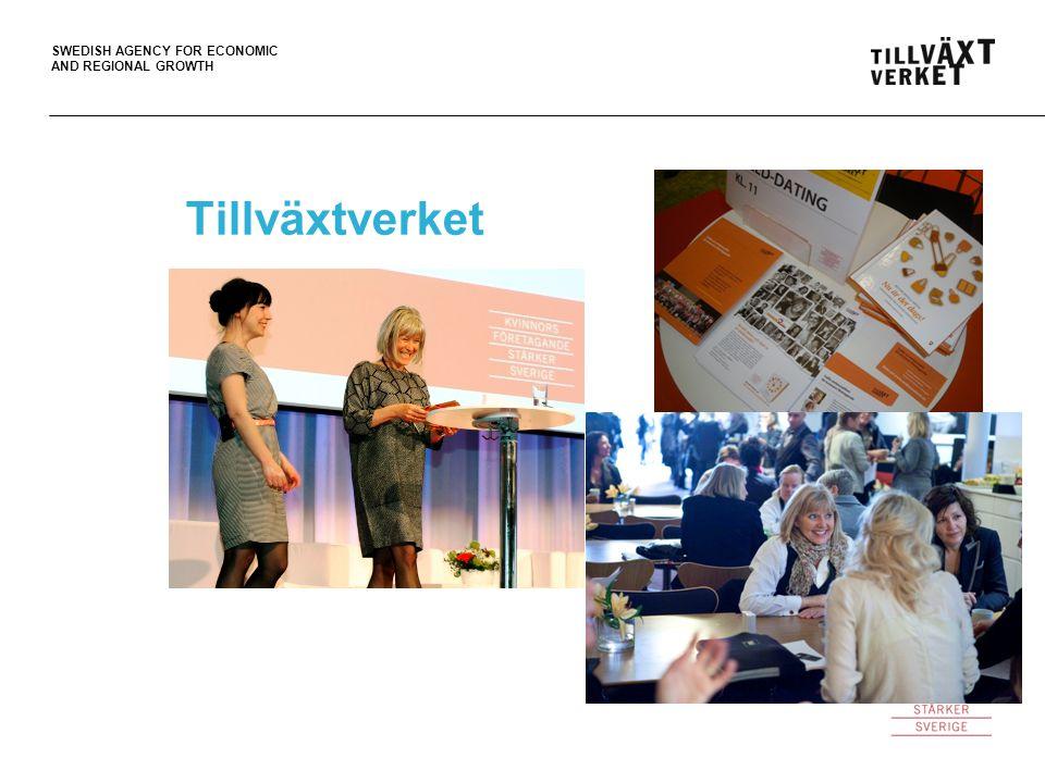 SWEDISH AGENCY FOR ECONOMIC AND REGIONAL GROWTH Tillväxtverket