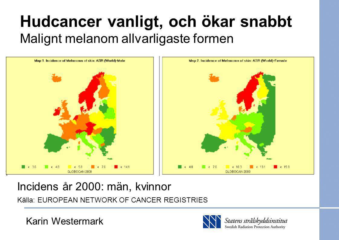Hudcancer, varför.