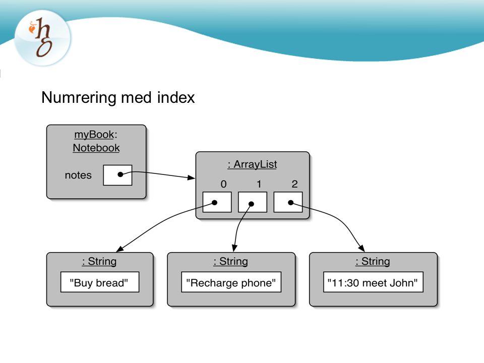 Numrering med index