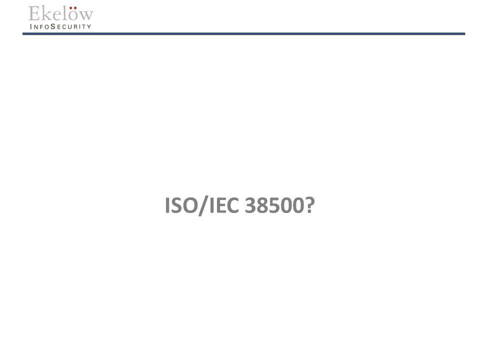ISO/IEC 38500?