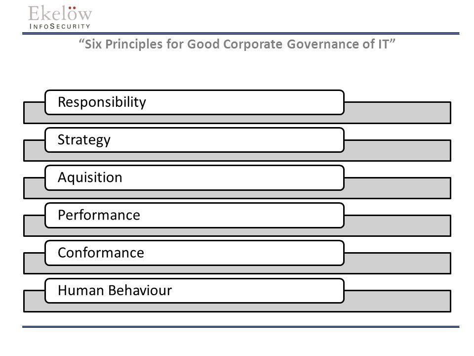 Några exempel på resultat och mervärden Strategisk och taktisk/operativ kontroll Stöd för compliance, governance samt kvalitet Förtroende för organisationen avseende både interna och externa intressenter Förbättrad kontroll över investeringar Adekvata skyddsåtgärder Mätbara resultat