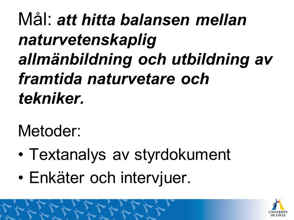 Den svenska delen omfattar 15 skolenheter.Åldrarna som ingår är 5, 8, 11 och 13 år.