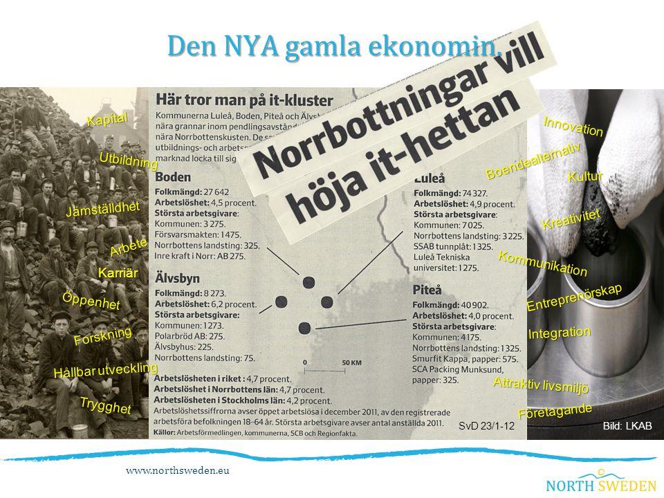 www.northsweden.eu SvD 23/1-12 Den NYA gamla ekonomin.
