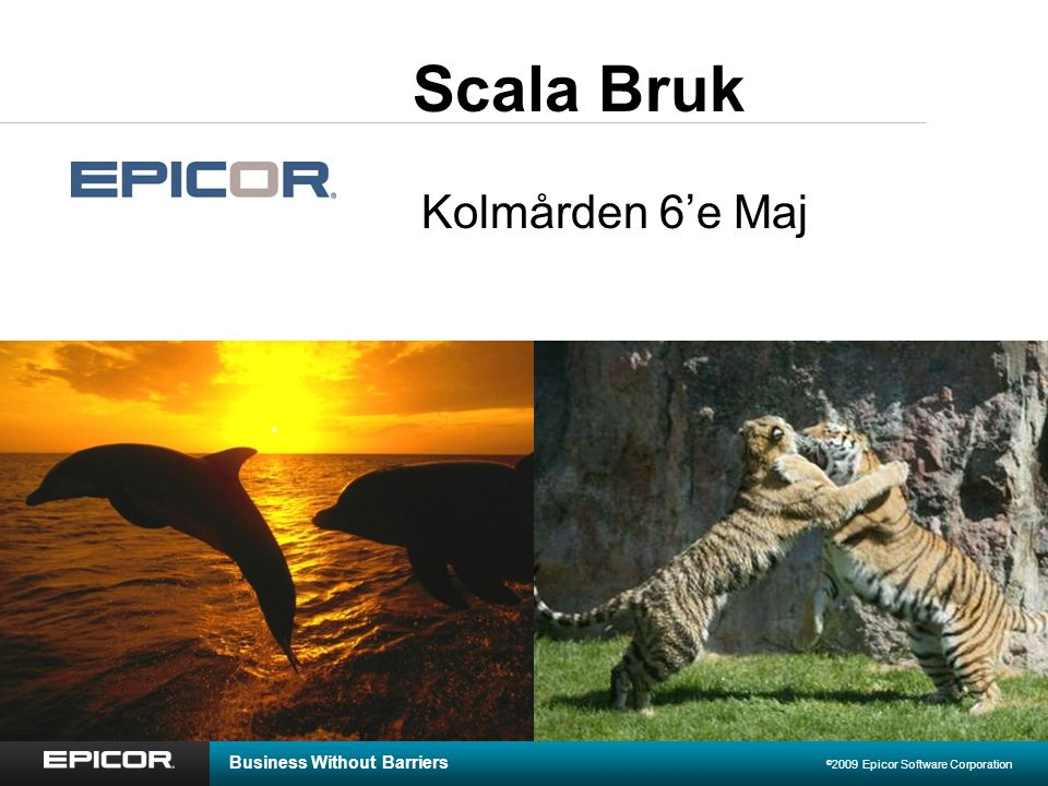Business Without Barriers © 2009 Epicor Software Corporation Scala Bruk Kolmården 6'e Maj