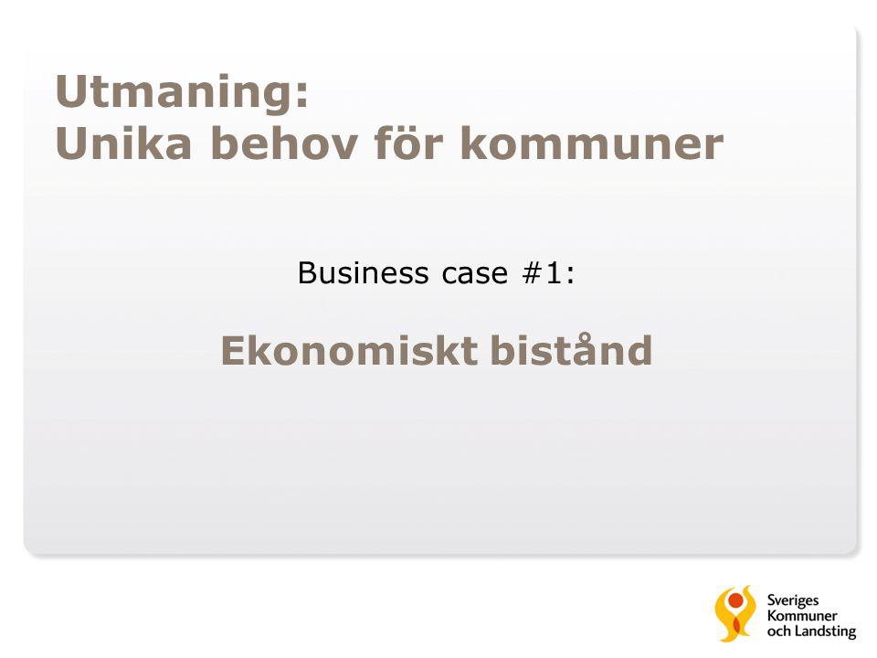 Utmaning: Unika behov för kommuner Business case #1: Ekonomiskt bistånd