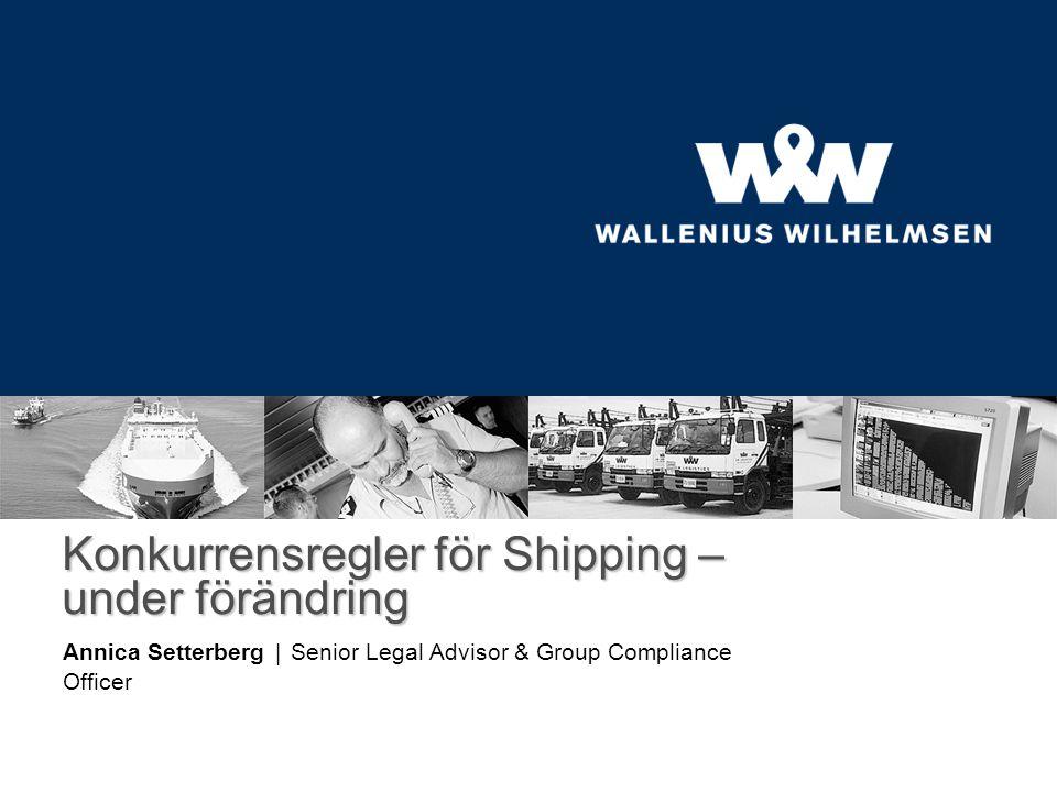 Konsortier I EG-förordningen 823/2000 definierades konsortier såsom ett avtal mellan minst två rederier som tillhandahåller internationell, regelbunden linjesjöfart för transport enbart av varor, huvudsakligen i container och på en eller flera linjer, samt vars syfte är att etablera ett samarbete för att gemensamt driva sjöfart med avsikt att förbättra tjänster, som om inget konsortium fanns skulle erbjudas individuellt av var och en av konsortiemedlemmarna, för att rationalisera deras verksamhet medelst tekniska, driftsmässiga eller kommersiella åtgärder, undantaget fast prissättning .