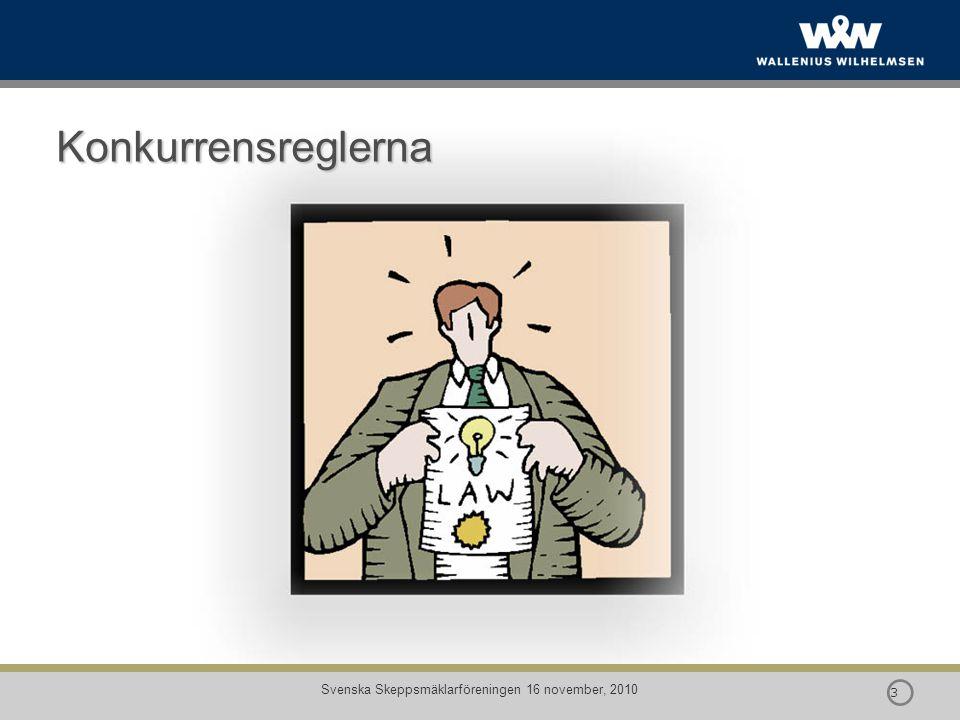  14 Svenska Skeppsmäklarföreningen 16 november, 2010 Konkurrensrätt – Vad menas med missbruk.