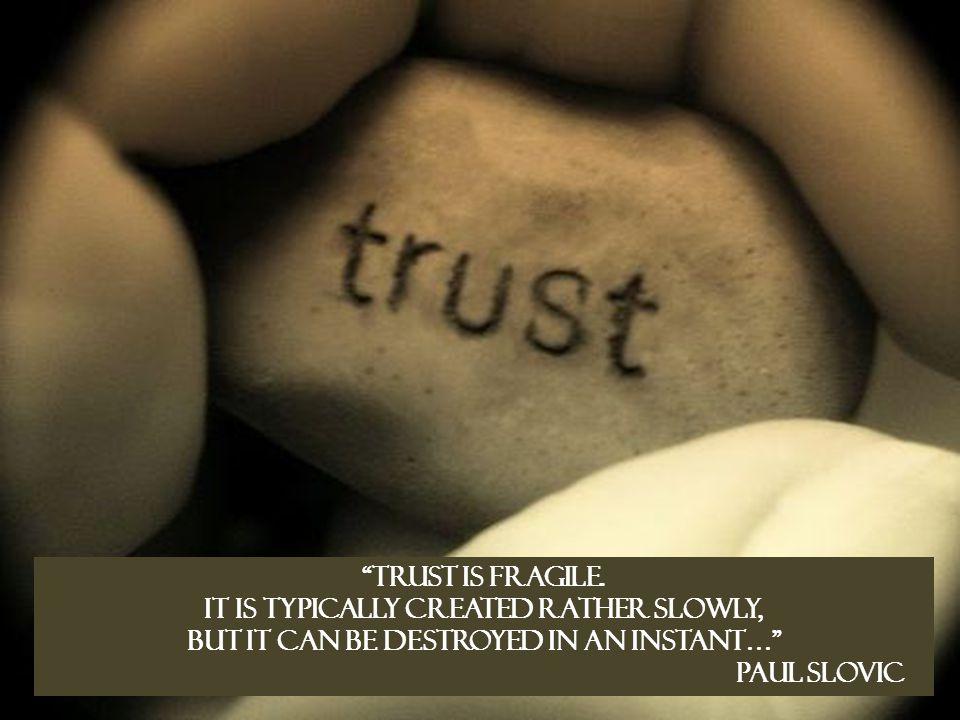 vad leder förtroende till?