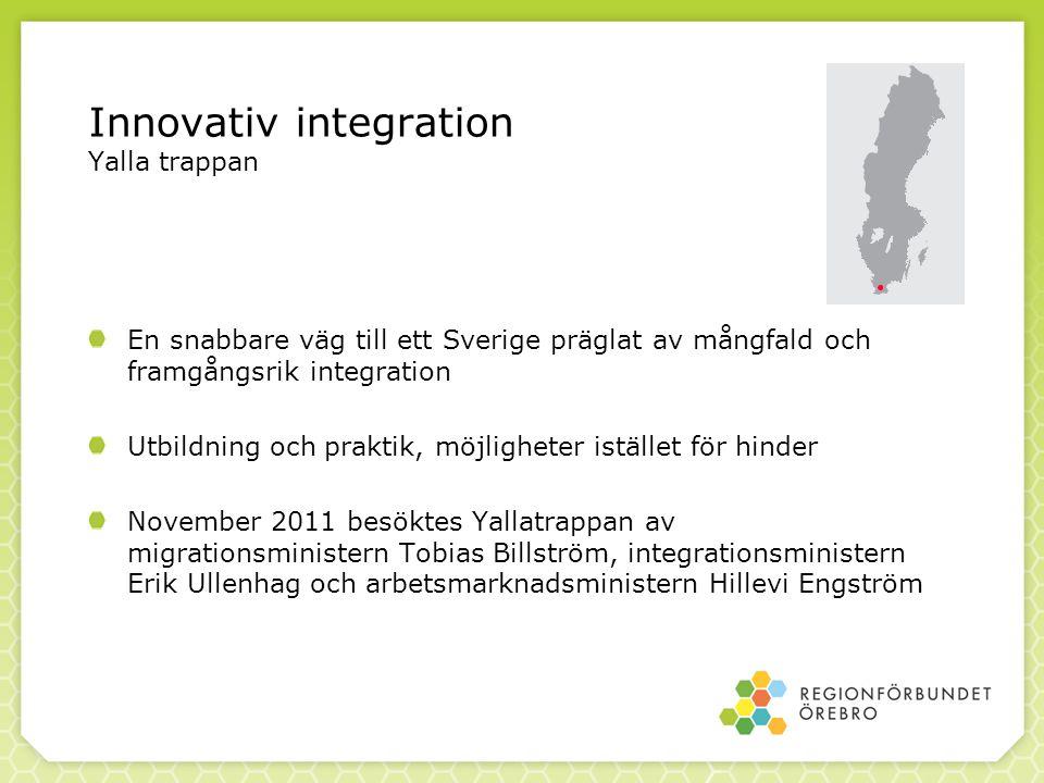 Innovativ integration Yalla trappan En snabbare väg till ett Sverige präglat av mångfald och framgångsrik integration Utbildning och praktik, möjlighe