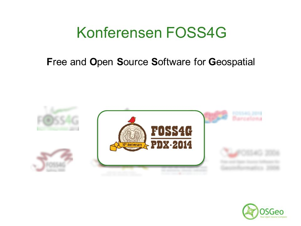 Konferensen FOSS4G Free and Open Source Software for Geospatial