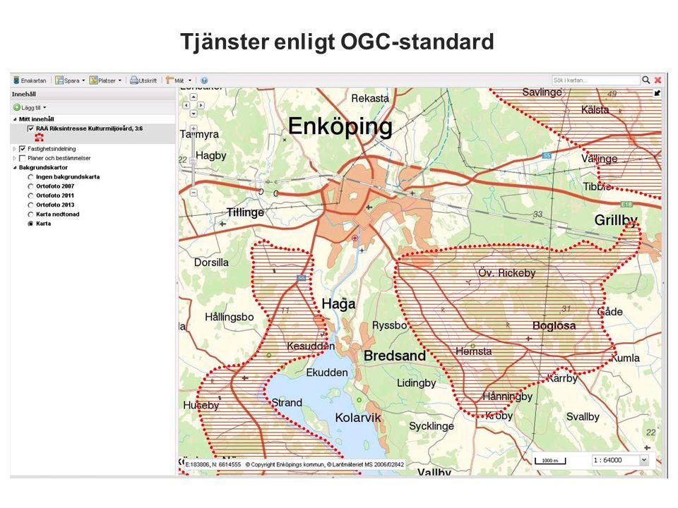 Tjänster enligt OGC-standard