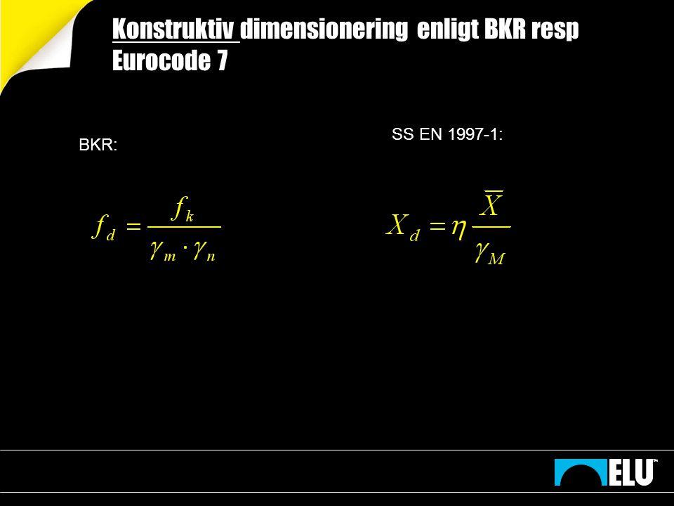 Dimensionerande jordparameter 2014-11-1810 Geokonstruktionens karakteristiska värde.