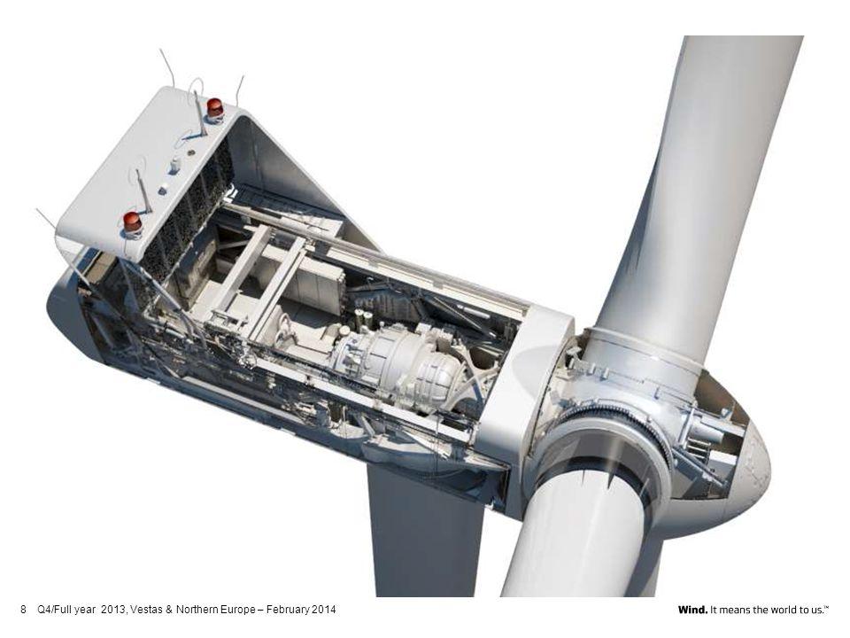 Jädraås Windpark 66 units V112-3.0MW, Wind Turbine Generators Tubular steel tower, IEC3A, 119 m hub-height, including internal parts each equipped with Power Climber service lift.