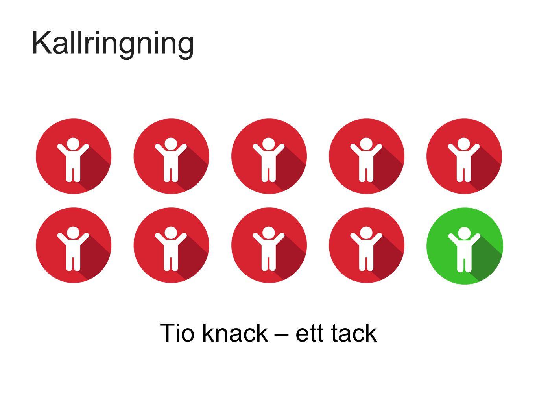 Kallringning Tio knack – ett tack