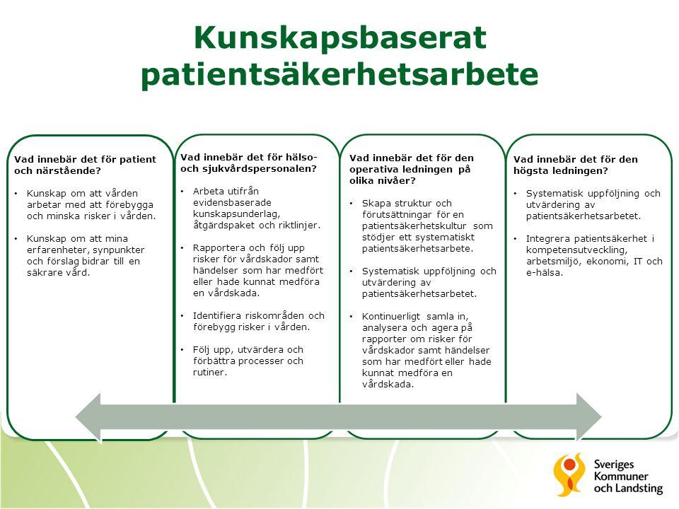 Organiserad patientsäkerhet Vad innebär det för patient och närstående.